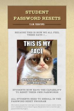 Student Password Resets