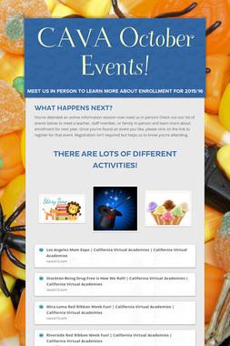 CAVA October Events!