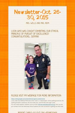 Newsletter-Oct. 26-30, 2015