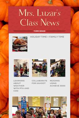 Mrs. Luzar's Class News