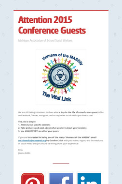 Attention 2015 Conference Guests