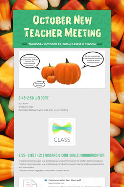 October New Teacher Meeting