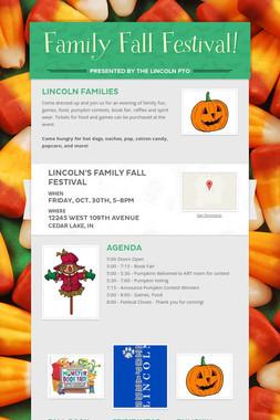 Family Fall Festival!