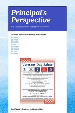 Principal's Perspective