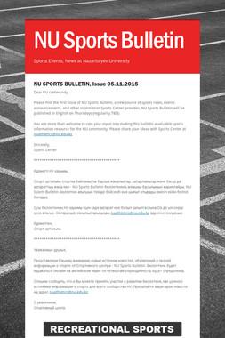 NU Sports Bulletin