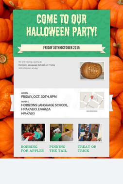 Come to our Halloween party!