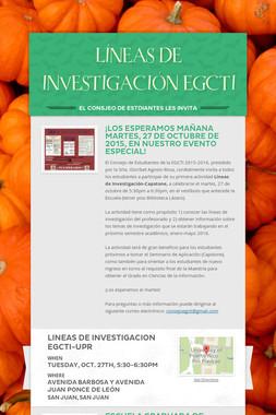 LÍNEAS DE INVESTIGACIÓN EGCTI