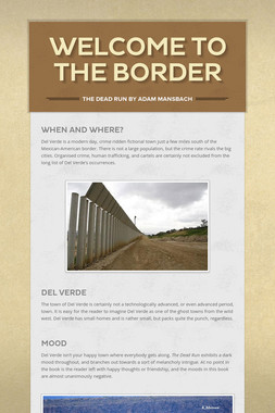 Welcome to the Border