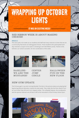 Wrapping Up October Lights