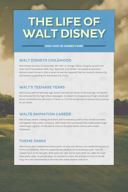 The Life Of Walt Disney