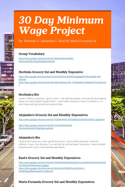 30 Day Minimum Wage Project