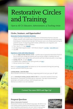 Restorative Circles and Training