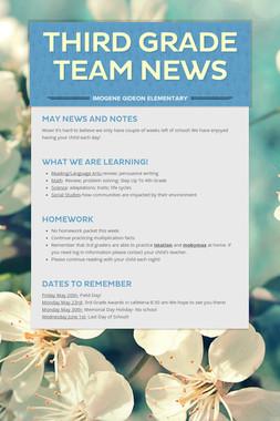 Third Grade Team News