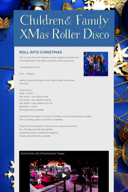 Children& Family XMas Roller Disco