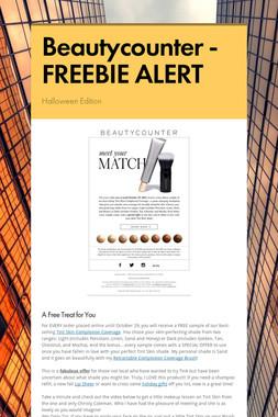Beautycounter - FREEBIE ALERT