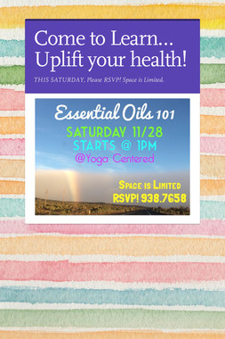 Come to Learn… Uplift your health!