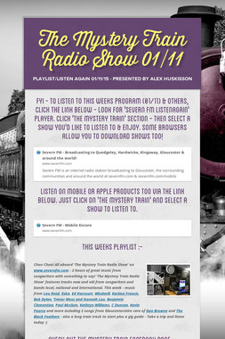 The Mystery Train Radio Show 01/11