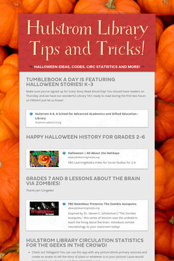 Hulstrom Library Tips and Tricks!