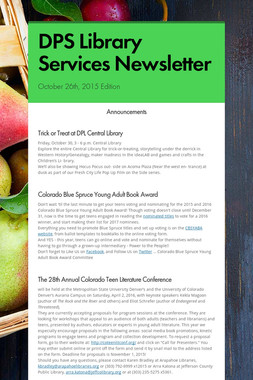 DPS Library Services Newsletter