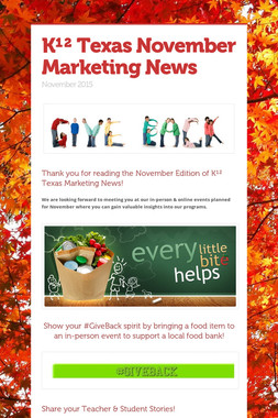 K¹²  Texas November Marketing News
