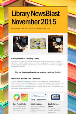 Library NewsBlast  November 2015