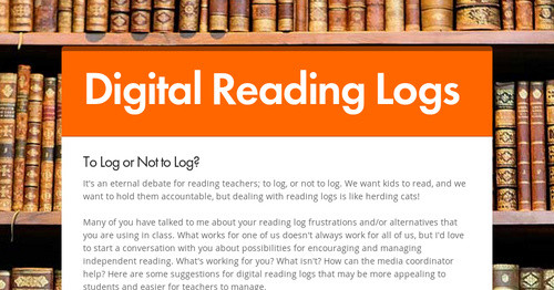digital reading logs smore newsletters