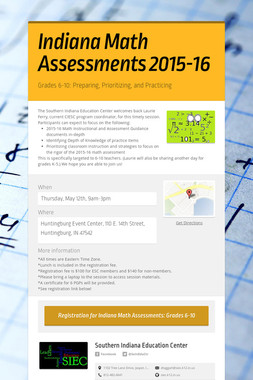 Indiana Math Assessments 2015-16