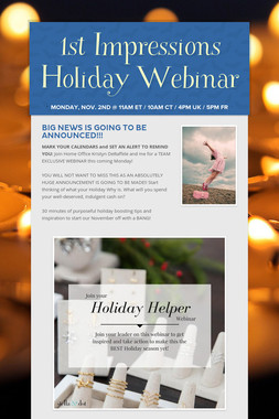1st Impressions Holiday Webinar