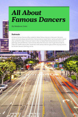 All About Famous Dancers