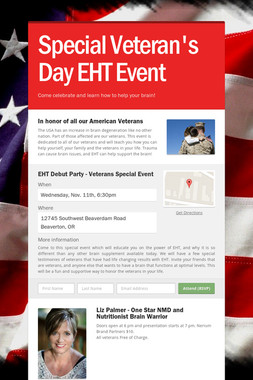 Special Veteran's Day EHT Event