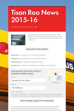 Tison Roo News 2015-16