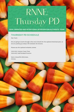 RNNE: Thursday PD