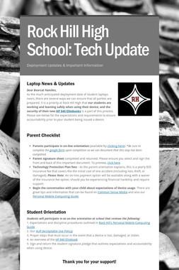 Rock Hill High School: Tech Update
