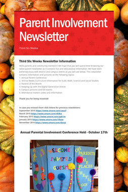 Parent Involvement Newsletter