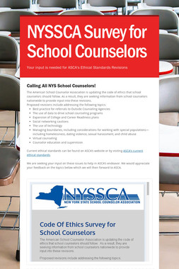 NYSSCA Survey for School Counselors