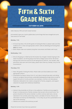 Fifth & Sixth Grade News