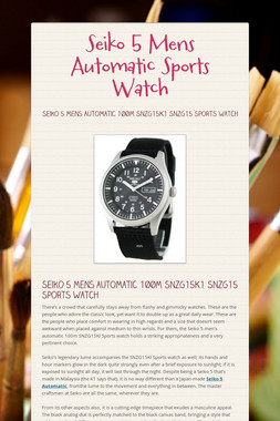 Seiko 5 Mens Automatic Sports Watch