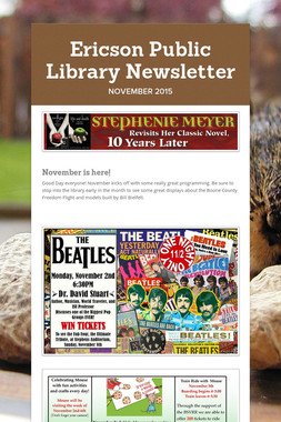 Ericson Public Library Newsletter