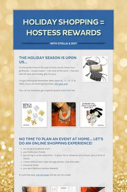 Holiday Shopping = Hostess Rewards