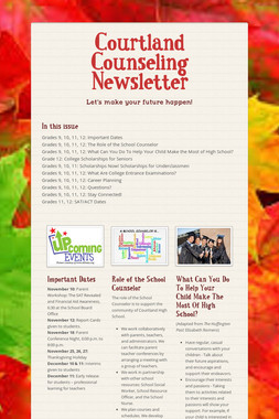 Courtland Counseling Newsletter