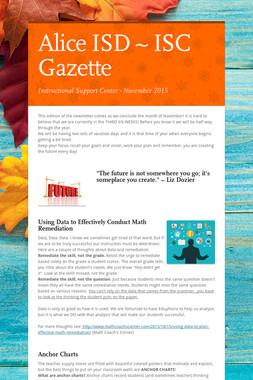 Alice ISD ~     ISC Gazette