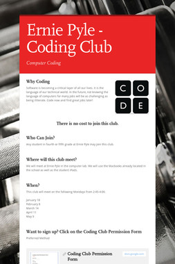 Ernie Pyle - Coding Club