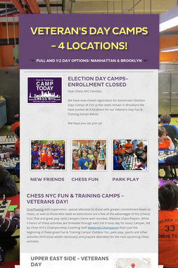 Veteran's Day Camps - 4 Locations!