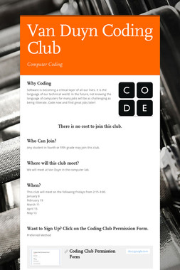 Van Duyn Coding Club