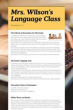 Mrs. Wilson's Language Class