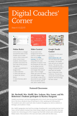 Digital Coaches' Corner