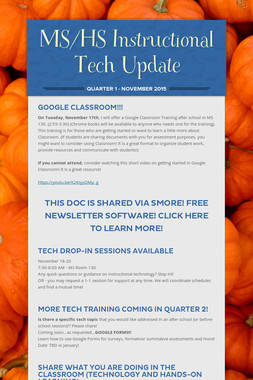 MS/HS Instructional Tech Update
