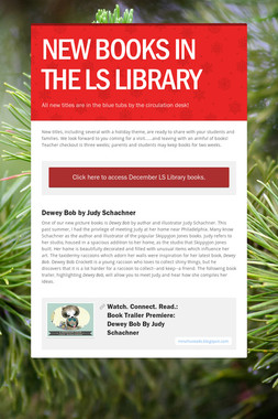 NEW  BOOKS IN THE LS LIBRARY