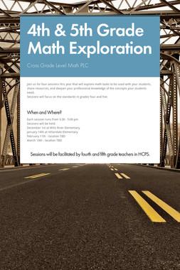 4th & 5th Grade Math Exploration