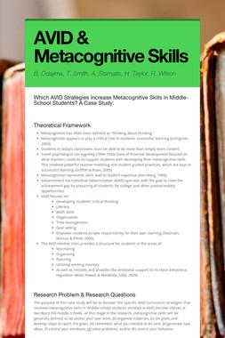 AVID & Metacognitive Skills